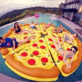 pizza 泳圈  ins  水上沙灘用品披薩浮排加厚PVC  泳圈水上