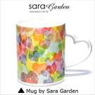(24H) 客製 愛心 彩繪 馬克杯 Mug 韓風 馬卡龍 刷色 愛心 咖啡杯 陶瓷杯 杯子 Sara Garden手作【M0320029】