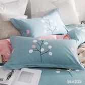 ins風全棉枕頭加純棉枕套單只裝單人學生酒店成人枕芯套裝一對   LN5049【甜心小妮童裝】