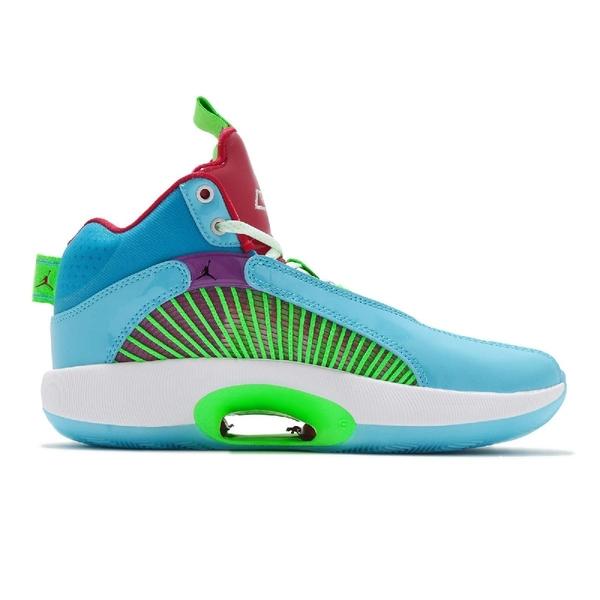 Nike 籃球鞋 Air Jordan XXXV WIP PF GS Greatest Gift 35 藍 綠 女鞋 喬丹 AJ35 35代【ACS】 DJ9884-400