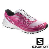 【SALOMON 法國】SENSE MANTRA 3 女 輕量城市路跑鞋『粉紅/黑』功能鞋.慢跑鞋.女版 370908