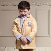 【愛的世界】防風羽絨長袖連帽外套/6~8歲-中國製- ★秋冬外套