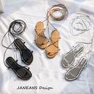 交叉綁帶涼鞋女平底韓版百搭沙灘鞋海邊度假波西米亞羅馬系帶涼鞋