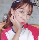 現貨-韓國ulzzang原宿高品質復古圓形眼鏡復古小圓框平光鏡 潮流圓形裝飾眼鏡 女款光學近視眼鏡