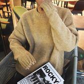 男士休閒簡約套頭針織衫寬松毛衣外套潮服