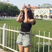 牛仔短褲女夏2018新品正韓學生熱褲毛邊bf寬鬆高腰超短褲( 中秋烤肉鉅惠)