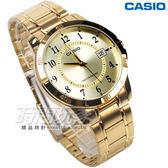 CASIO 卡西歐 MTP-V004G-9B 公司貨 簡約不銹鋼石英錶 指針錶 男錶 學生錶 防水 金 MTP-V004G-9BUDF