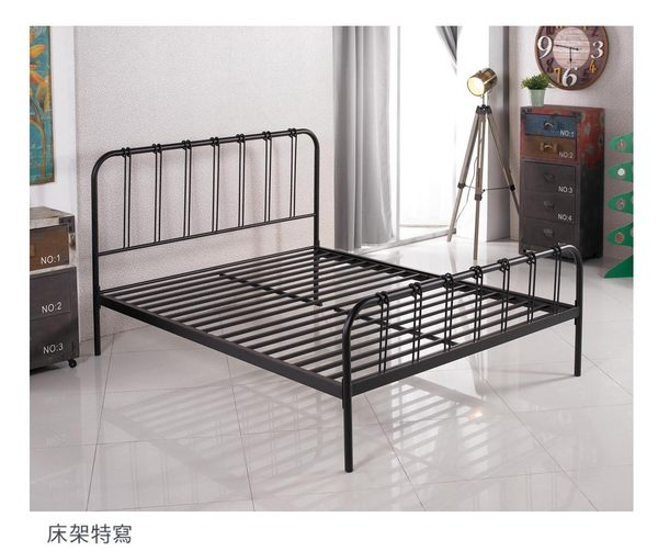 【森可家居】約瑟夫簡約舒適3.5尺白色鐵床架 7JX81-1 單人床