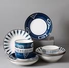 碗 手繪日式18件碗碟套裝家用釉下彩創意碗盤湯碗面碗陶瓷吃飯碗餐具【快速出貨八折搶購】