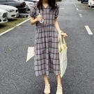 現貨 經典格紋V領洋裝連身裙【82-16-8686-20】ibella 艾貝拉