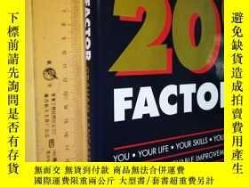二手書博民逛書店英文原版罕見大精裝 The 20% Factor: How to Achieve an Immediate 20%