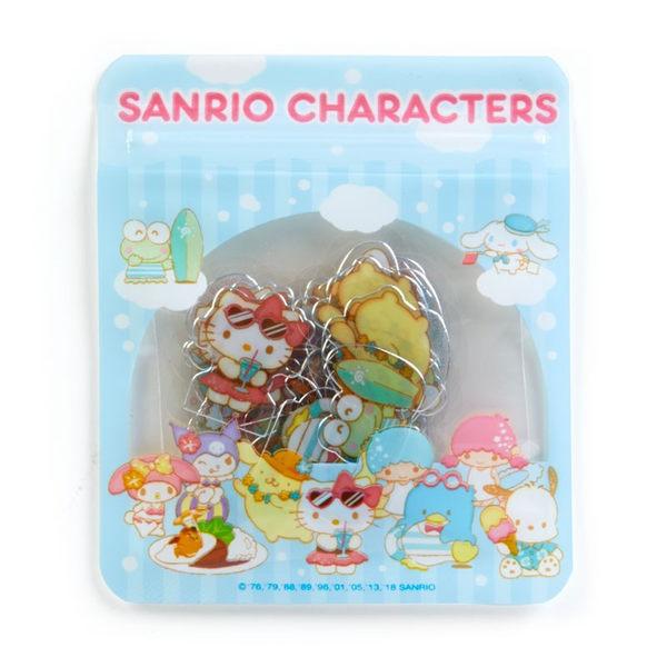 日本kitty美樂蒂雙子星布丁狗酷洛米大耳狗貼紙行事曆貼裝飾貼沙灘205631通販屋