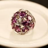 戒指 925純銀 水晶-時尚簡約生日母親節禮物女飾品73by9【時尚巴黎】