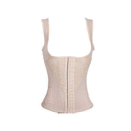 束身衣上衣收腹束身束腰美體束身衣背心帶胸內衣產後托胸束身衣-mov5001
