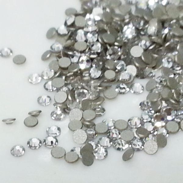 指甲彩繪施華洛世奇水鑽 SS4=1.9mm/50顆-白色   凝膠指甲  水晶指甲  甜心美甲材料批發網