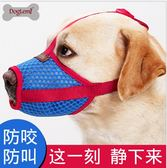 狗狗嘴套中型大型犬比格拉布拉防叫防咬防亂吃寵物透氣嘴罩可喝水【名谷小屋】