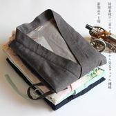 日式純棉紗布和服男女情侶家居服汗蒸桑拿服