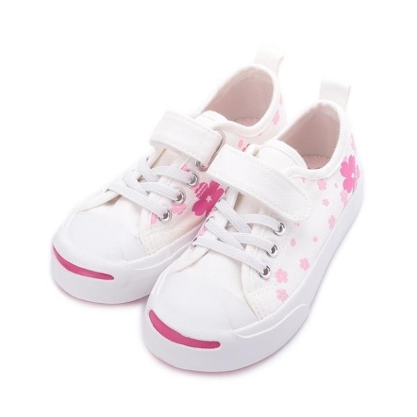 MIOSHOES 櫻花休閒帆布鞋 白 200802 中童鞋