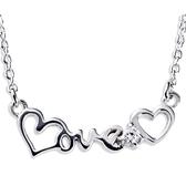 KISS KISS愛戀LOVE純銀項鍊
