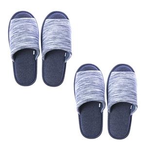 HOLA 風格紋理針織拖鞋-藍L x2