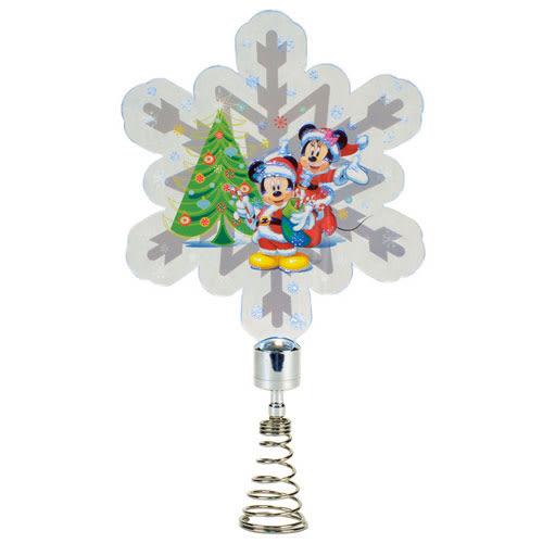 《Enesco》迪士尼米奇米妮壓克力雪花造型LED搖搖聖誕擺飾燈★funbox生活用品★ EN92175