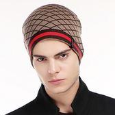 毛帽-雙面顏色休閒個性羊毛男針織帽2色71ag11【巴黎精品】