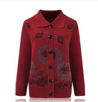 針織外套 毛衣女開衫中針織衫秋冬裝太太外套秋冬加絨 維多原創