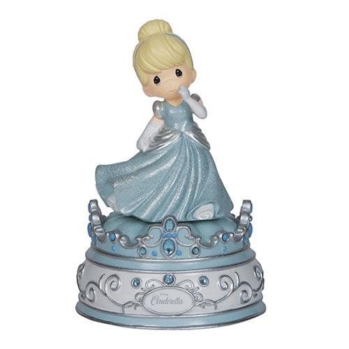 《Precious Moments》DISNEY迪士尼灰姑娘水滴娃娃音樂鈴塑像-Musical:Cinderella_PX02631