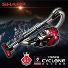 SHARP夏普 旋風式450W無紙袋吸塵器 紅色 EC-VX220R-R