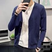 針織開衫外套男毛衣秋季薄款外穿休閒毛線衣【左岸男裝】