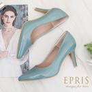 現貨 MIT小尺碼女鞋推薦 糖果公主 亮皮高跟鞋 經典素面尖頭跟鞋 21-25.5 EPRIS艾佩絲-古典藍