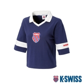 K-SWISS Loose Fit Polo短袖POLO上衣-女-藍