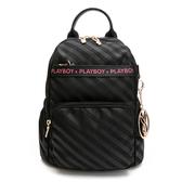 PLAYBOY-  後背包 時尚黑潮系列 -黑色