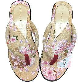 【波克貓哈日網】日本製草履◇COLOSOLFE◇《和服夾腳涼鞋》金
