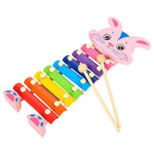 兒童益智玩具 小兔木琴