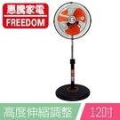 惠騰 12吋360度旋轉立扇/電扇/涼風扇 (FR-1258) 辦公室/小套房/個人專用 超取限一台