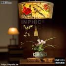 INPHIC-新中式布藝手繪吊燈禪意茶室茶樓燈具中國風風格臥室客廳燈酒店燈-直徑50cm_S3081C