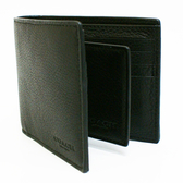 【COACH】牛皮8卡男款短夾附活動證件夾(黑)