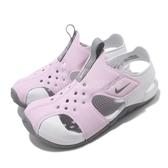 Nike 涼鞋 Sunray Protect 2 PS 紫 灰 童鞋 中童鞋 魔鬼氈 小朋友 運動鞋【PUMP306】 943826-501
