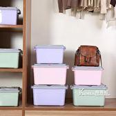 收納盒—收納箱塑料特大號衣服儲蓄儲物箱玩具整理箱有蓋收納盒清倉三件套 Korea時尚記