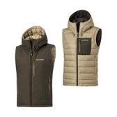 [Mont-Bell] (女) Colorado Vest 雙面羽絨背心 藍/淺卡 (1101565-DSLT)