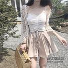 套裝抽繩吊帶 半身裙短裙褲 鏤空針織開衫...