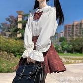 JK制服白襯衣春秋款娃娃領lolita內搭jk制服長袖白襯衫女設計感小眾上衣 嬡孕哺 上新