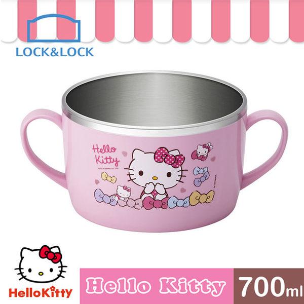 HELLO KITTY 不鏽鋼湯杯/700ML(LKT426)
