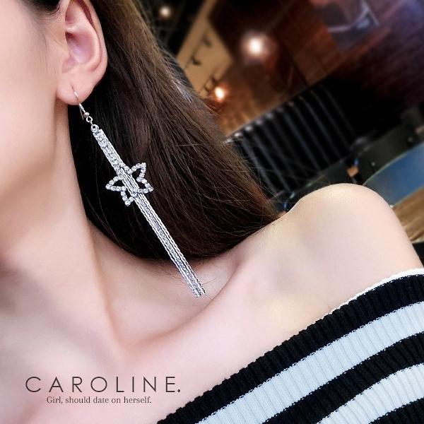 《Caroline》★韓國熱賣造型時尚Bling  Bling 絢麗閃亮動人耳環70325