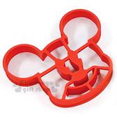 〔小禮堂〕迪士尼 米奇 鬆餅壓模《紅.大臉.可做造型蛋.紙盒裝》創意便當輕鬆做 4992831-14224
