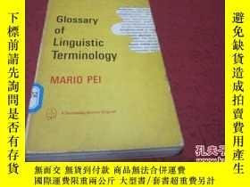 二手書博民逛書店glossary罕見of linguistic terminology 【英文版】Y23728