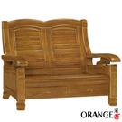 【采桔家居】卡雅  典雅風實木二人座沙發椅(二抽屜設置)