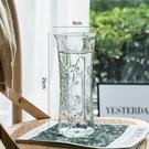 花瓶 玻璃花瓶透明水養富貴竹百合花瓶擺件客廳插花干花北歐家用特大號【快速出貨超夯八折】