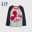 Gap男幼童 Gap x Disney 迪士尼系列圖案圓領長袖T恤 618251-灰色